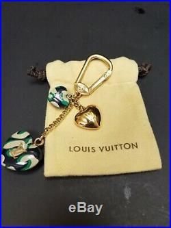 Louis Vuitton Bag Charm Hearts Green/black/white