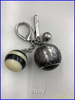 Louis Vuitton Bijousak Mini Run Key Ring Chain Noir M65701