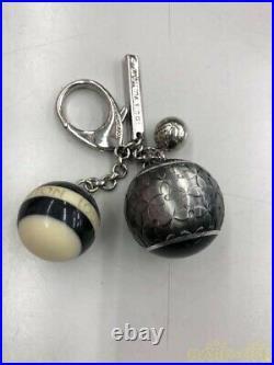 Louis Vuitton Bijoux Sack Mini Lan Key chain Ring Noir Balls from japan