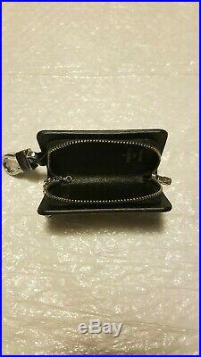 Louis Vuitton Black Damier Key Pouch, Poachette Coin Purse Chain Authentic