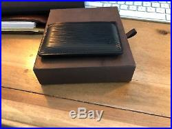 Louis Vuitton Black Epi Leather Card Holder/Small Wallet