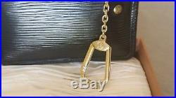 Louis Vuitton Black Epi Leather Key Cles Chain Coin Key Holder Pouch
