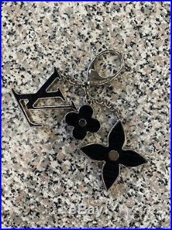 Louis Vuitton Black Palladium Fleur D Epi Bag Charm/Key Chain