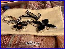 Louis Vuitton Black Palladium Fleur D Epi Bag Charm/Key Chain EUC