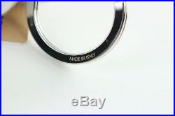 Louis Vuitton Black Virgil Abloh Initial Key Chain Ring Bag Charm 21le0110