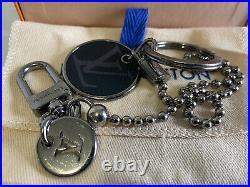Louis Vuitton Calfskin Monogram Eclipse ID Pocket Key Chain Bag Charm & Holder