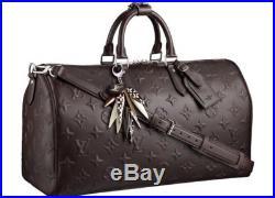 Louis Vuitton Edun Revelation Masai Ebony Monogram Wood Keychain Bag Charm