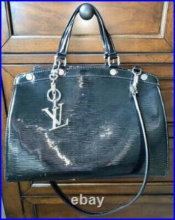 Louis Vuitton Electric EPI Black Leather Brea MM Bag & Keychain