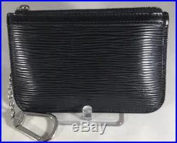 Louis Vuitton Epi Leather Key Pouch Key Cles Black