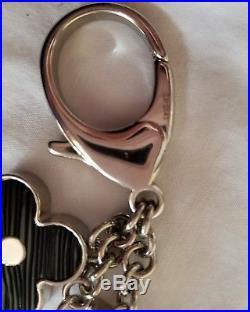 Louis Vuitton Fleur D'Epi Bag Charm Keychain Noir Electric Black