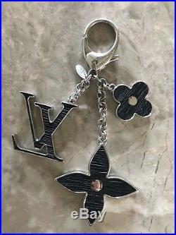 Louis Vuitton Fleur D'Epi Noir (black) Bag Charm Authentic