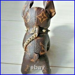 Louis Vuitton French Bulldog Dog Monogram Bag Charm Keychain Novelty Limited