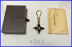 Louis Vuitton Key Chain Authentic Metal Gold Black Porte Cles Puzzle Bag Charm