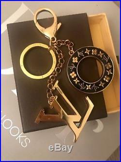 Louis Vuitton Key Chain Bag Charm Color Black