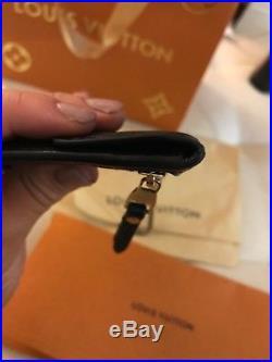 Louis Vuitton Key Pouch Black Noir Empriente Leather