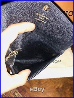 Louis Vuitton Key Pouch Wallet FOB BLACK NOIR Empriente Monogram Leather 2017