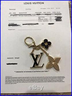 Louis Vuitton Key Ring Fleur De Monogram 100% Authentic with COA BRAND NEW