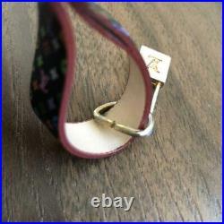 Louis Vuitton LV Logo Telephone Monogram Cadena Padlock Strap Bag Charm withBox