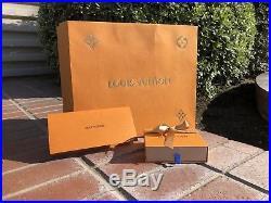 Louis Vuitton LV Split Monogram Bag Charm Key Holder Black Silver Blue 2018