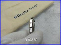 Louis Vuitton Men's Black Calfskin Leather Key Holder Key Chain Monogram LV Logo
