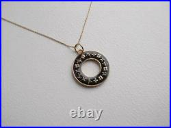 Louis Vuitton genuine Vintage parts Key chain Necklace Black/ Gold