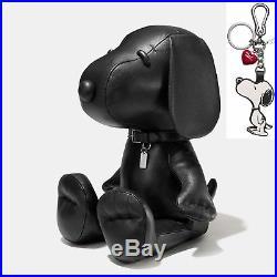 Ltd. Edition Coach x Peanuts L 23 Black Leather SNOOPY Doll with Keychain