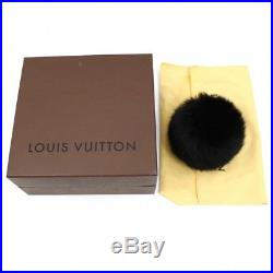 M1978s Authentic Louis Vuitton Fuzzy Bubble Bag Charm Brack key chain