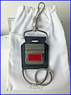 MAISON MARGIELA SS18 Red Black Seatbelt 2-Piece Key Ring NIB