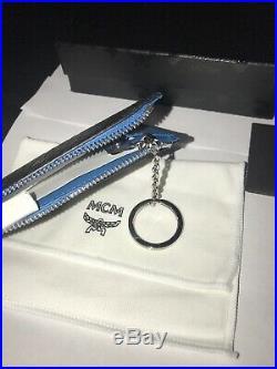MCM Black Visetos Key Chain Wallet Nwt