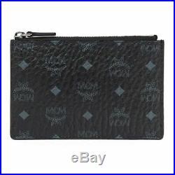 MCM Visetos Original Key Pouch BLACK Wallet NEW authentic USA Ship