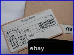 MIU MIU (Prada) Beaded CUPID Keyring / Key Chain BAG CHARM Genuine Suede