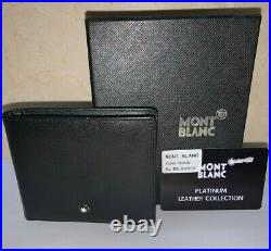 MONT BLANC MB 0168C Men's Meisterstück Leather Wallet 6cc Black