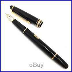 MONT BLANC Meisterstuck Pix Nib 4810 Gold 14 k Black Fountain Pen/3399