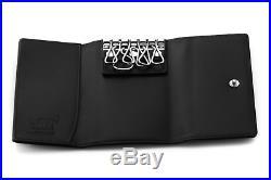 MONTBLANC Key Chain Holder Wallet 7161 Black Color 6 Chain Inside Genuine
