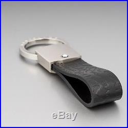 MONTBLANC Keychain Star Stainless Steel Men's Leather Key ring holder Germany