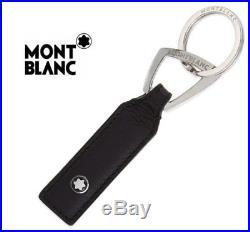 MONTBLANC MEISTERSTUCK Soft Grain Black Leather Key Ring Chain 113302 Keychain