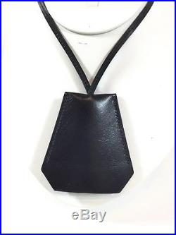Maison Margiela For Hermes Leather Cloche Key Chain Necklace