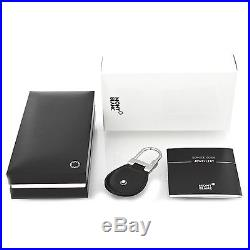Man Key Ring MONTBLANC MEISTERSTUCK black leather key chain New 14085