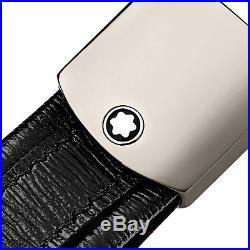 Man key ring MONTBLANC 4810 WESTSIDE key chain loop black leather New 114702
