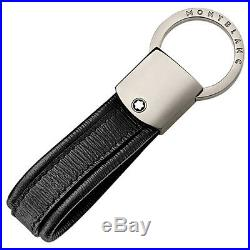Man keyring MONTBLANC 4810 WESTSIDE key chain loop black leather 114702 New