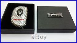Maserati key silver carbon service + logo black carbon