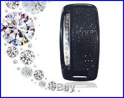 Matte Black ALUMINIUM Range Rover Jaguar leather key chain case shell cover FOB