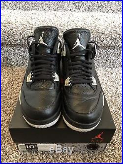 Mens Air Jordan 4 Retro LS Oreo Size 10.5 with Original Box and keychain