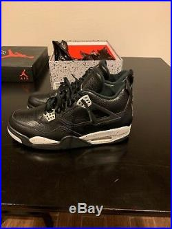 Mens Air Jordan 4 Retro LS Oreo Size 10.5 with Original Box and keychain