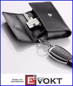 Mercedes-Benz Black Leather Key Case Business B66952883 Genuine New
