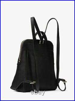 Michael Kors Rhea Slim Backpack Black Leather