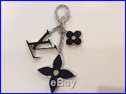 Mint Condition Authentic Louis Vuitton Black Epi Handbag Charm Fob Keychain