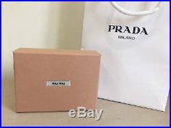 Miu Miu Black Glitter Lightening Bolt Keyring/Bag Charm New In Box