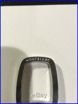 Mont Blanc Contemporary Black Rubber Keychain