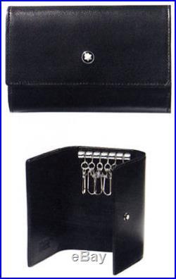 Montblanc Meisterstuck 6 Hooks Black Leather Keychain 7161